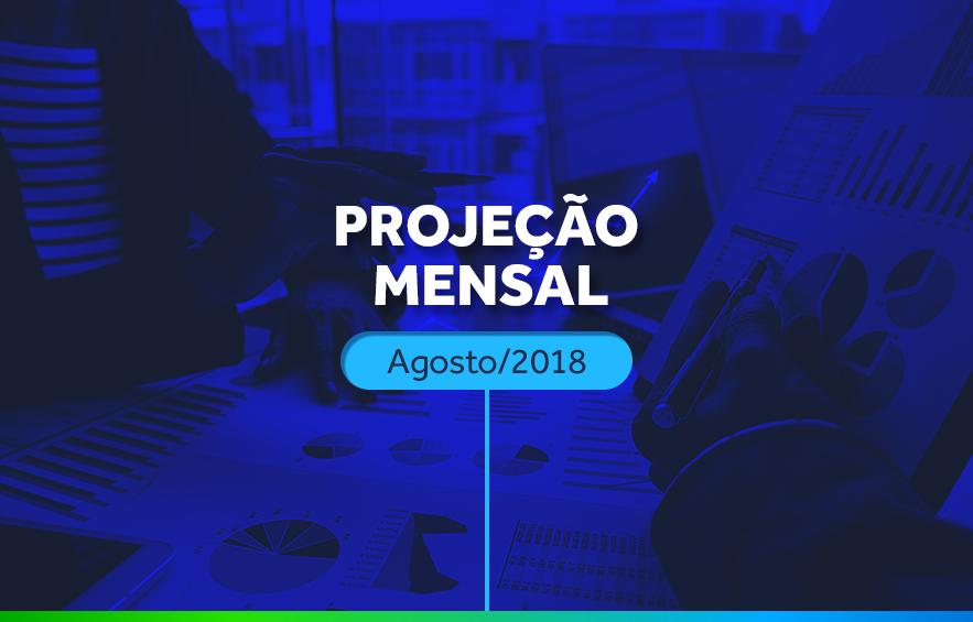 Projeção mensal agosto